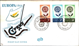 12140) CIPRO BUSTA FDC EUROPA CEPT 1964 CIPRO KIBRIS - Cipro (Repubblica)