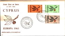 12160) CIPRO BUSTA FDC EUROPA CEPT 1965 CIPRO KIBRIS - Cipro (Repubblica)