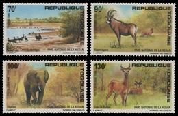 Togo 1986 - Mi-Nr. 1986-1989 ** - MNH - Wildtiere / Wild Animals - Togo (1960-...)