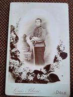 CDV Format CABINET - Militaire Chasseur à Cheval Du 14 ème - Voir Shako - Photo Louis Blanc, DÔLE - BE - War, Military