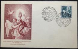 "Spain, Uncirculated FDC, ""XXXV Congreso Eucaristico Internacional"", ""Religion"", Barcelona, 1952 - 1981-90 Covers"
