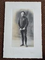Photographie Ancienne Type Cabinet - Militaire Chasseur Alpin - 54 Sur Col - Croix De Guerre 14-18 - Photo  LYON - TBE - Guerre, Militaire