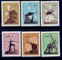 ! ! Portugal - 1970 Windmills (Complete Set) - Af. 1091 To 1096 - MH - Nuevos