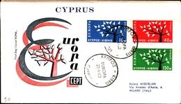 12188) CIPRO BUSTA FDC EUROPA CEPT 1963 - Cipro (Repubblica)