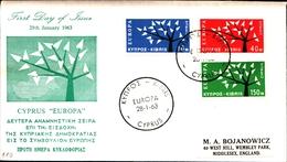 12218) CIPRO BUSTA FDC EUROPA CEPT 1963 - Cipro (Repubblica)