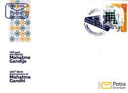 2019 FDC, The 150th Anniversary Of Birth Of Mohandas Gandhi, Montenegro, MNH - Montenegro