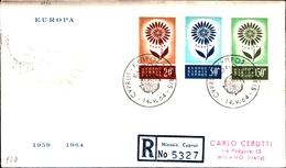 12225) CIPRO BUSTA FDC EUROPA CEPT 1964 CIPRO KIBRIS - Cipro (Repubblica)