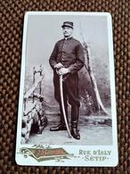 CDV Militaire Du 5 ème Régiment De CHASSEURS D' AFRIQUE - Photo  Bonnet, SETIF ( Algérie) - TBE - 1908 - Guerre, Militaire