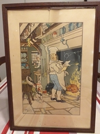 Lithographie Originale De Harry Eliott ( 1882 - 1959 ) - Lithographies