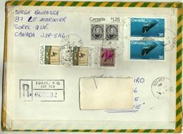 Canada Sorel Air Mail R - Letter 1980 Via Yugoslavia,Macedonia - Nice Stamps - 1952-.... Règne D'Elizabeth II