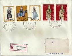 Greece Thessaloniki R -letter 1975 Via Macedonia,Yugoslavia.nice Stamps.Europa Stamp - Greece