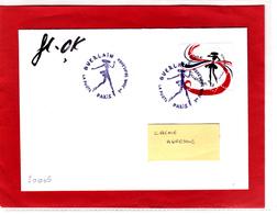 F 2020/ 0.97 € Coeurs Guerlain, Obl 1er Jour 10.01.20 La Petite Robe Noire, Signé Par Florence Deygas Et Olivier Kuntzel - Frankreich