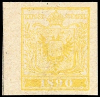 1890, Österreich, AM Gelb, ** - Oblitérations Mécaniques