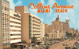 MIAMI BEACH - A View Of The Fine Hotels Looking South On Collins Avenue From 18th Street - Miami Beach