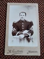 CDV Militaire  SAPEUR Du 115 ème - HACHE Et Grenade Sur Manches - Photo Gautier, MAMERS  - BE - Guerre, Militaire