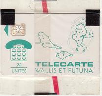 WALLIS Et FUTUNA - Cartes Des Iles, First Issue 25 Unites(vert), Chip SC4, 07/91, Mint - Wallis And Futuna