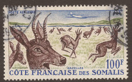 FRANCE / SOMALIA. 1958. AIR MAIL. 100F GAZELLES. USED. - Oblitérés
