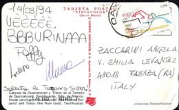 XXV Olimpiadi Nuoto Va. 1,900 $ Anno 1992 Francobollo Mexico Su Cartolina  Teotihuacan - Messico