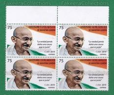 2019 CUBA - Mahatma Gandhi 150th Birth Anniversary 1v MNH Block - As Scan - Kuba