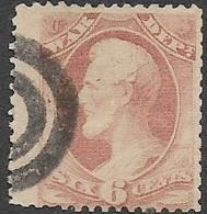 US  1873  Sc#O86  6c   War Dept  Used  (bullseye Cancel) 2016 Scott Value $10 - Officials