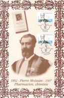 """"""" PIERRE MOISSAN / CHIMIE """" Sur Encart 1er Jour N°té En Soie De 2006 (336/500 Ex). Ed° A.M.I.S. 2 X N°YT 3975 Parf état. - Nobelpreisträger"""