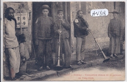 TONKIN- MONCAY-  FRONTIERE CHINOISE- TROMPETTES CHINOIS DE LA GARNISON DE TONG-HINH- - Cartoline