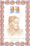 """"""" PAUL EMILE VICTOR """" Sur Encart 1er Jour N°té En Soie De 2000 (170/525 Ex). Ed° A.M.I.S. 2 X N° YT 3345 Parfait état. - Polar Exploradores Y Celebridades"""