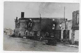(RECTO / VERSO) ORADOUR SUR GLANE - CARTE PHOTO APRES DESTRUCTION - FORMAT CPA - Oradour Sur Glane