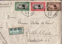 ! 1934 Old Airmail Cover , Luftpost Brief, Par Avion, Port Sudan Nach Halle / Saale , Africa, Afrika - Sudan (1894-1902)