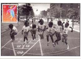 HELVETIA BERN FDC GAMES OF CHILDREN 1989  MAXIMUM POST CARD   (GENN201265) - Giochi