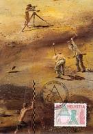 HELVETIA BERN NATIONAL TOPOGRAPHY 1988  MAXIMUM POST CARD   (GENN201269) - Geografia