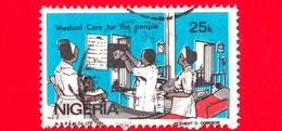 NIGERIA  - Usato - 1986 - Medicina - Medical Care For The People  - 25 - Nigeria (1961-...)