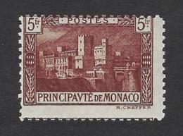 MONACO 1922 PALAIS PRINCIER 5f BRUN FRONCE Nº 62a * MH - Unused Stamps