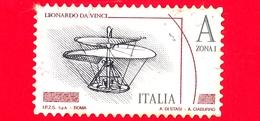 ITALIA - Usato - 2015 - Leonardesca - A Zona 1 • Vite Aerea  - Leonardo Da Vinci - Per Estero - Val.  3.50 - 6. 1946-.. Repubblica