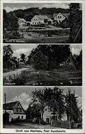 !  S/w Ansichtskarte Gruß Aus Martnau, Bei Auschowitz, 1942, Zusammendruckmarken - Sudeten