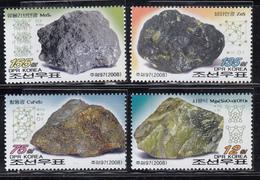 2008 North Korea Stamps  Mineral 4v MNH - Minerals