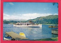 Modern Post Card Of M.V. Teal On Lake Windermere, Cumbria,England,A62. - Cumberland/ Westmorland
