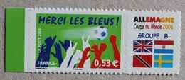 """P1-N5 : Football """"Merci Les Bleus"""" : Coupe Du Monde 2006 Allemagne Groupe B - Drapeaux - - Personnalisés"""