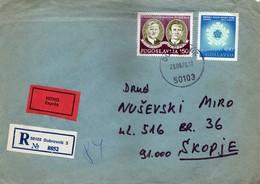 YUGOSLAVIA Croatia 1978 Dubrovnik Expres R - Letter Via Skopje - Briefe U. Dokumente