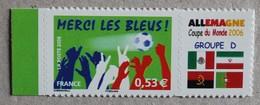 """P1-N5 : Football """"Merci Les Bleus"""" : Coupe Du Monde 2006 Allemagne Groupe D - Drapeaux - - Personnalisés"""