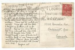 N°272 SEUL CARTE LOURDES 24.III.1931  POUR LE CANADA TARIF RELATIONS - 1921-1960: Periodo Moderno