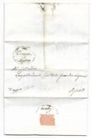 REPUBBLICA ROMANA - DA APIRO PER CITTA' - 9.5.1849. - ...-1850 Voorfilatelie