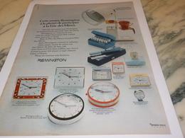 ANCIENNE PUBLICITE FETE DES MERES  REMINGTON 1972 - Bijoux & Horlogerie