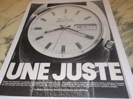 ANCIENNE  PUBLICITE MONTRE BULOVA  ACCUTRON 1972 - Bijoux & Horlogerie