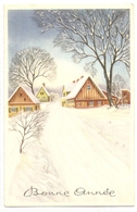 BA 1832 OLD FANTASY POSTCARD , PERIOD 1945-1970 , CIRCULATED , BONNE ANNEE , VIEWS And LANDSCAPES - Nouvel An