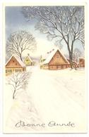 BA 1832 OLD FANTASY POSTCARD , PERIOD 1945-1970 , CIRCULATED , BONNE ANNEE , VIEWS And LANDSCAPES - Nieuwjaar