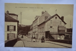 L'ISLE-ADAM-grande Rue (dans L'ile)-offerte Par Chocolat Vinay-papier Glace - L'Isle Adam