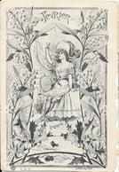 Fantaisie: Femme Avec Coupe, Le Mois De Février - Illustration Signée Recul 017 - Carte C.L.C. Dos Simple Non Circulée - Donne