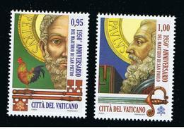 2017 - VATICANO - S15E1 - SET OF 2 STAMPS ** - Unused Stamps