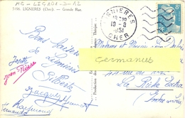 DAGUIN FLAMME MUETTE DROITE LIGNIERES CHER Du 10-8-1951 - Marcophilie (Lettres)